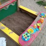 Довезли песок в песочницу на детской площадке на Панченко, 8